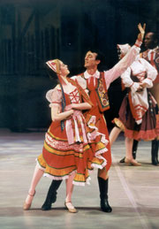 Guest Artist James Cramer and Alumna Rachel Moore in Czardas -  2001 production